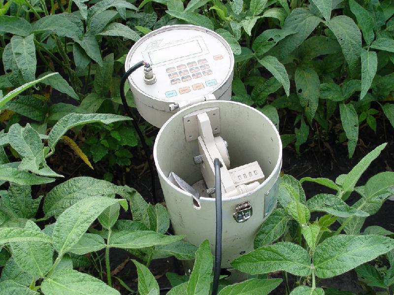 监测土层水分变化。