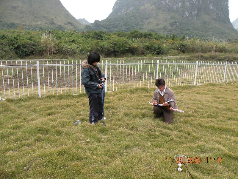 气象观测场土壤体积含水量实地观测